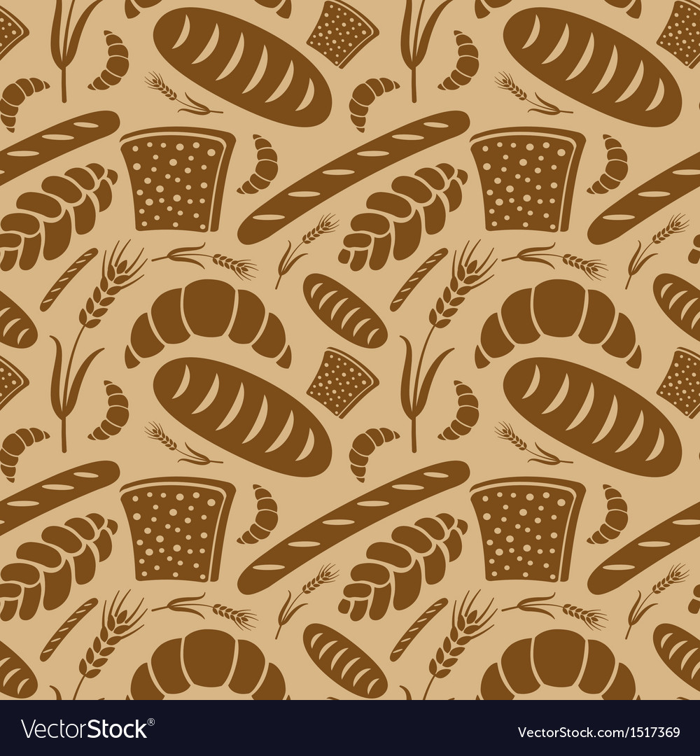 Bread pattern vector | Price: 1 Credit (USD $1)