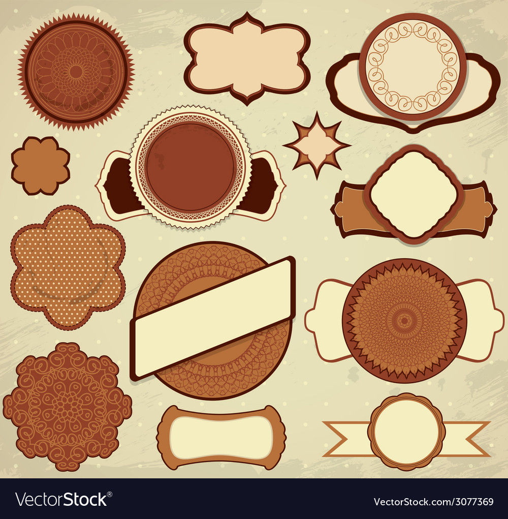 Chocolate frames 380 vector | Price: 1 Credit (USD $1)