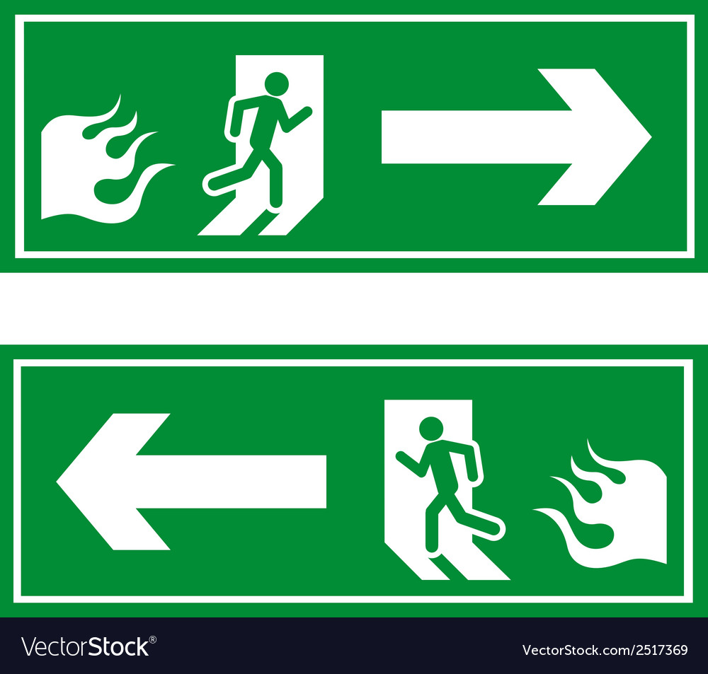 Fire exit 1 vector | Price: 1 Credit (USD $1)