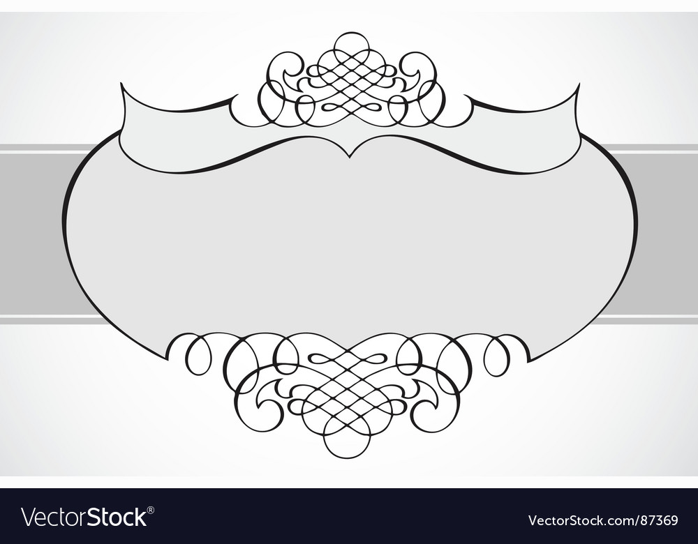 Frame with swirl ornaments vector | Price: 1 Credit (USD $1)