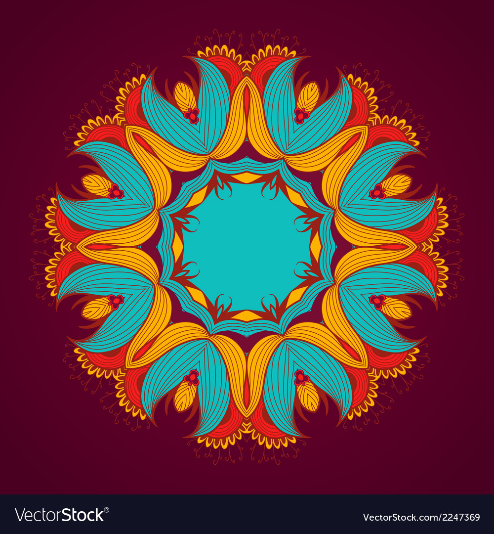 Ornamental round lace pattern is like mandala vector | Price: 1 Credit (USD $1)