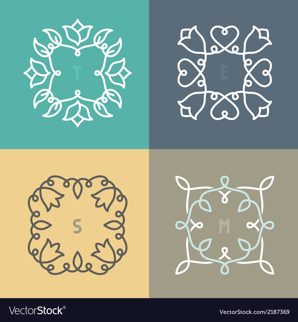 Outline frame set vector | Price: 1 Credit (USD $1)