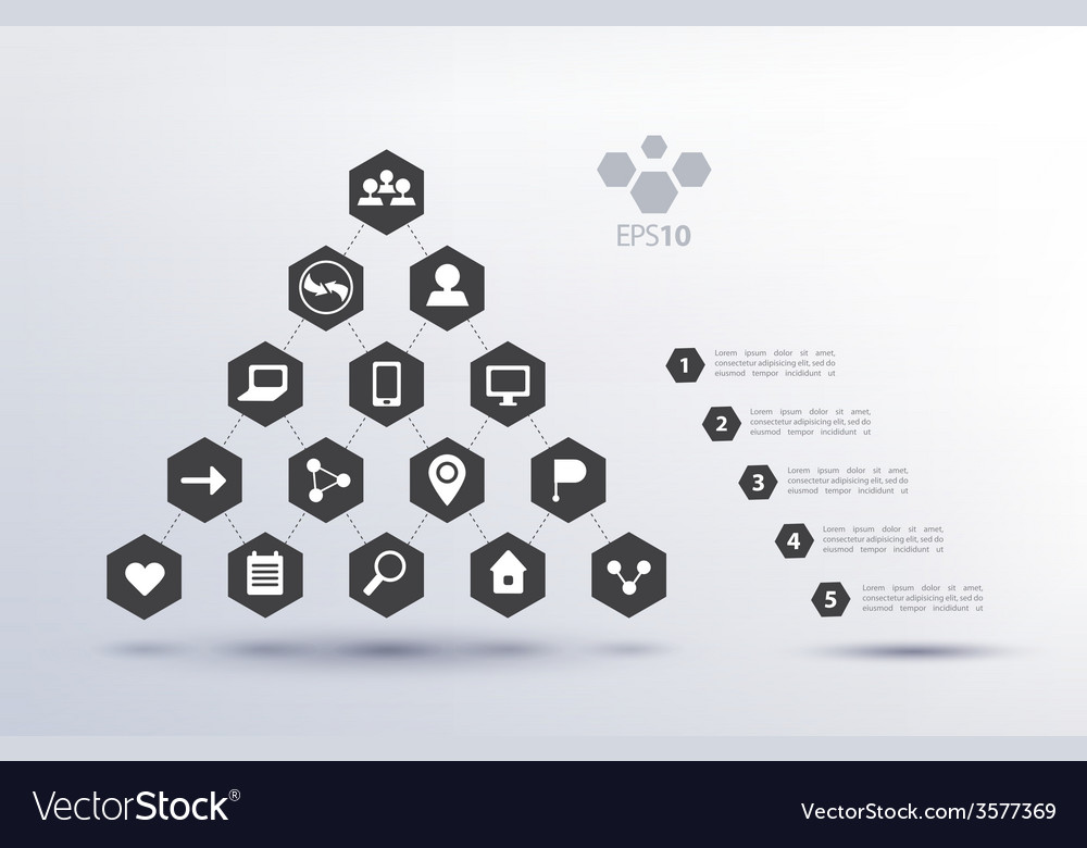 Pyramid social network infographics vector   Price: 1 Credit (USD $1)