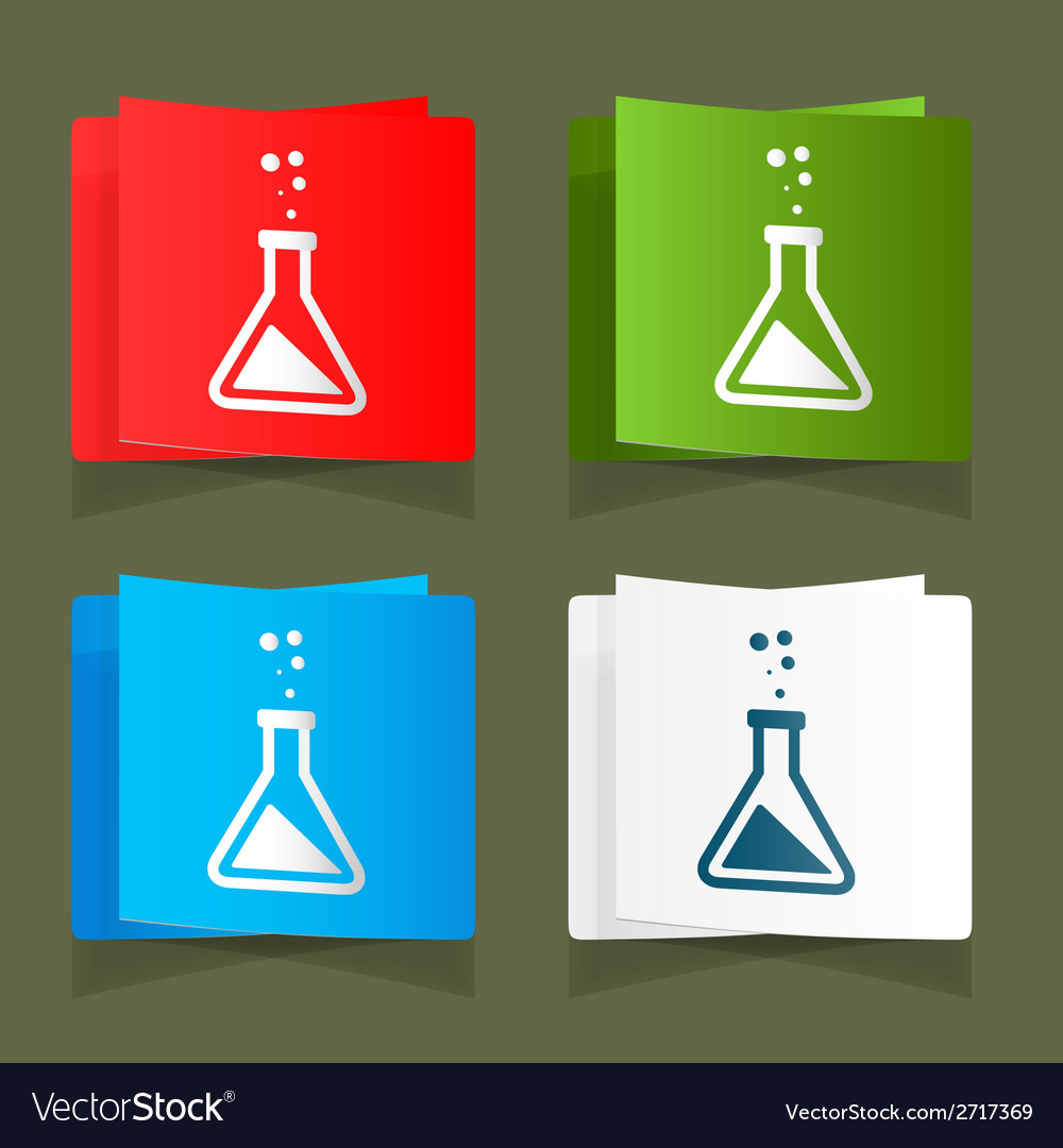 Set icons chemical experiments blue background eps vector | Price: 1 Credit (USD $1)