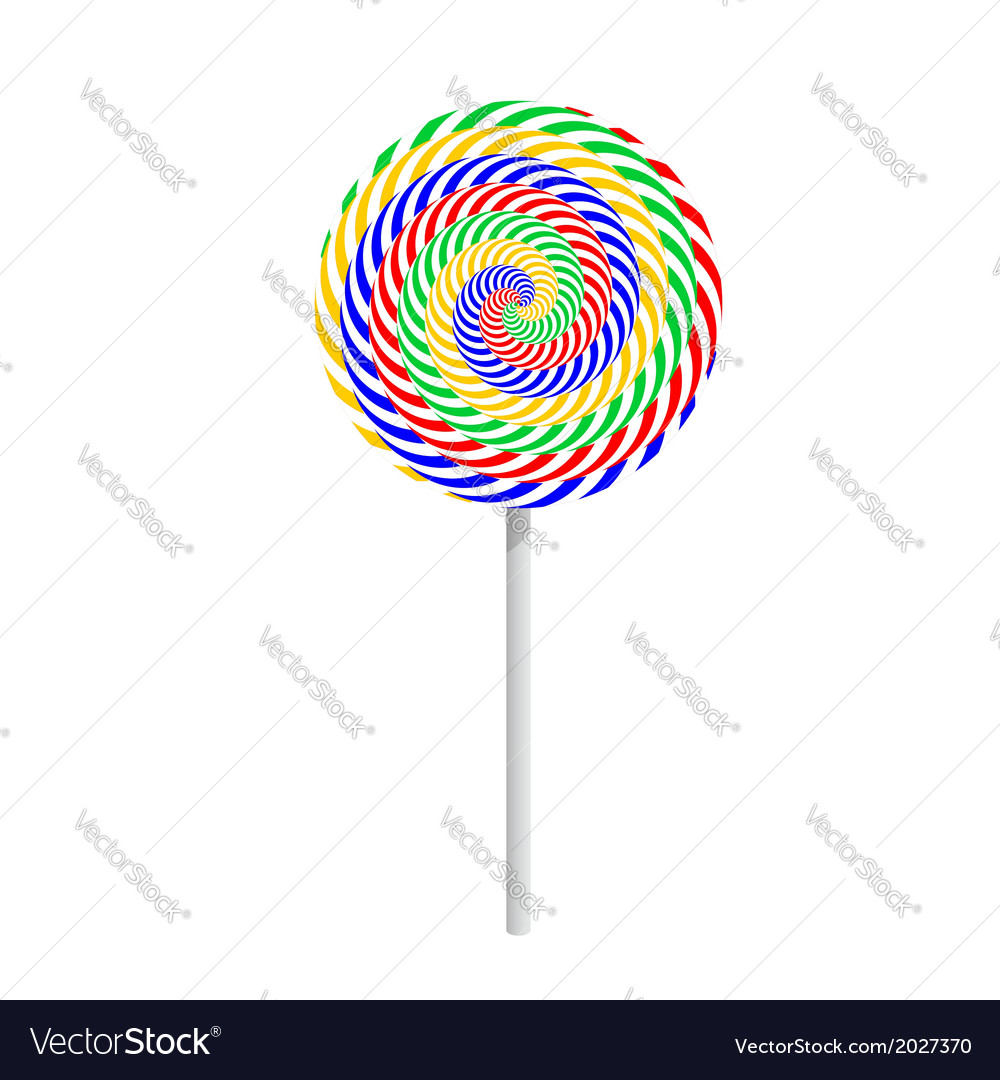 Colorful striped lollipop vector | Price: 1 Credit (USD $1)