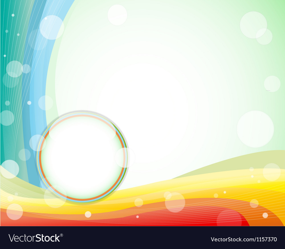 Colorfull layout in light green background vector | Price: 1 Credit (USD $1)