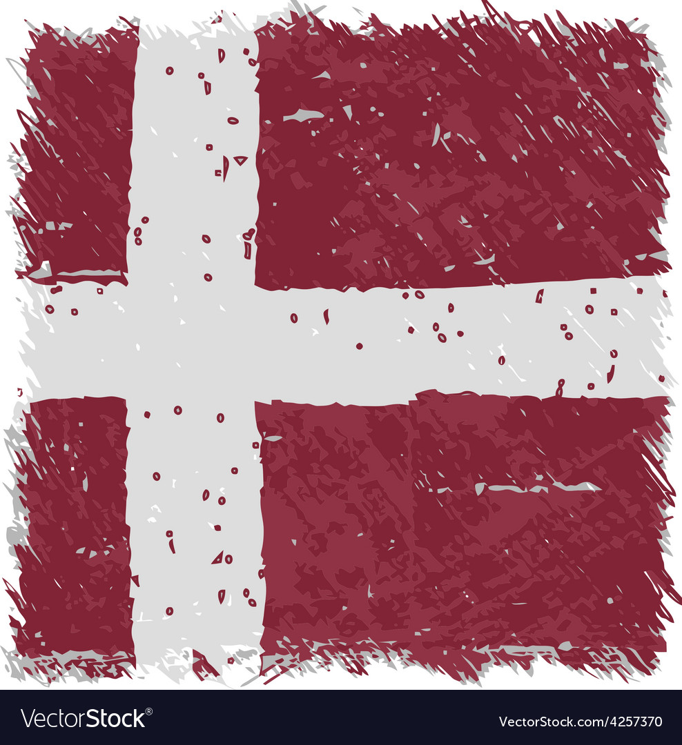 Flag of denmark handmade square shape vector | Price: 1 Credit (USD $1)