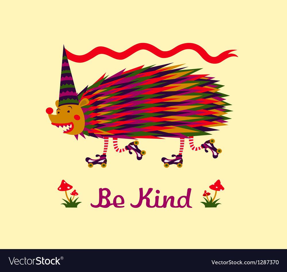 Kind hedgehog vector | Price: 1 Credit (USD $1)