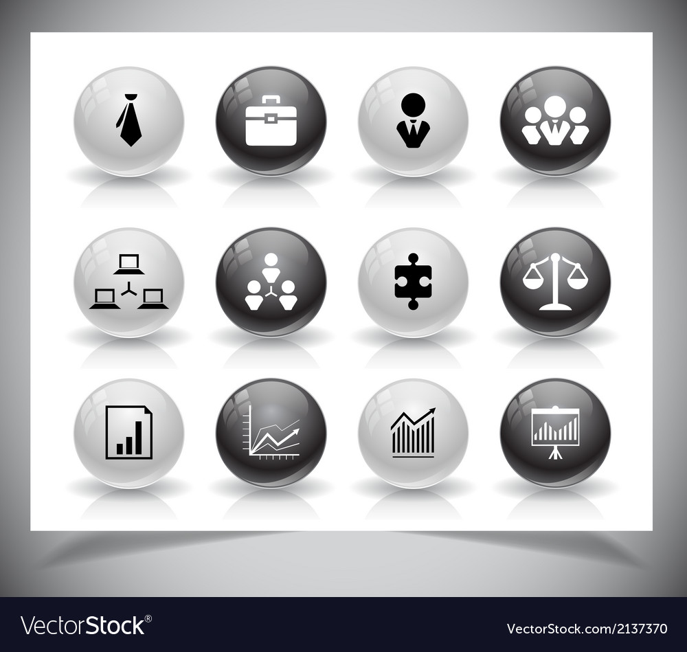 Set of business buttons vector | Price: 1 Credit (USD $1)