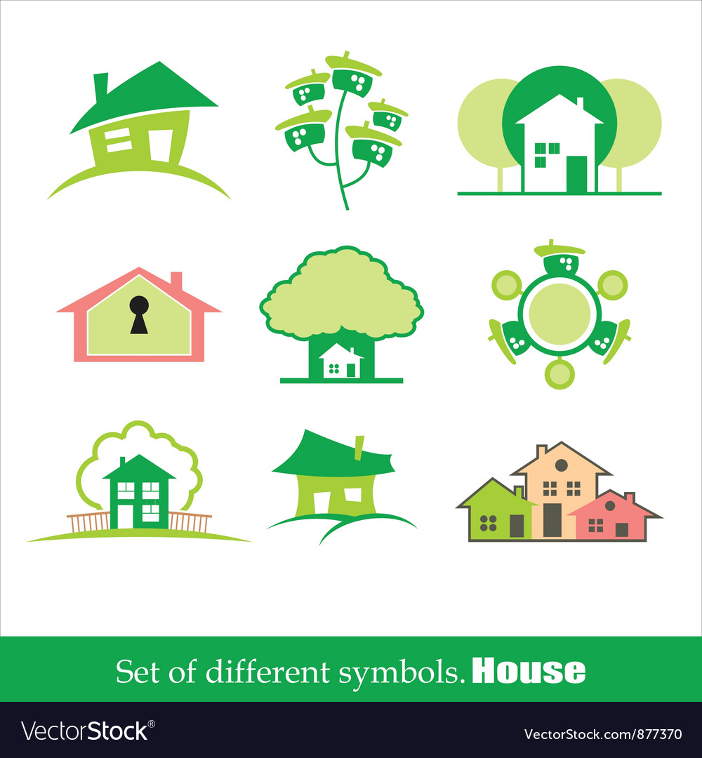 Set of symbols home house vector | Price: 1 Credit (USD $1)