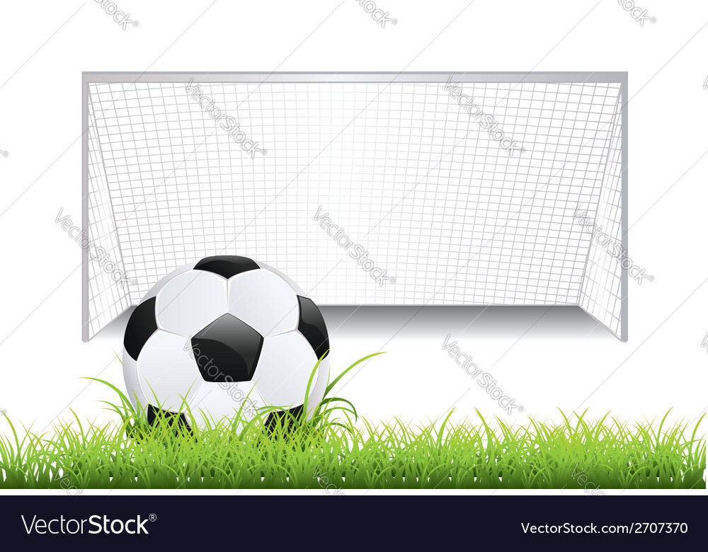 Soccer goal with ball2 vector | Price: 1 Credit (USD $1)