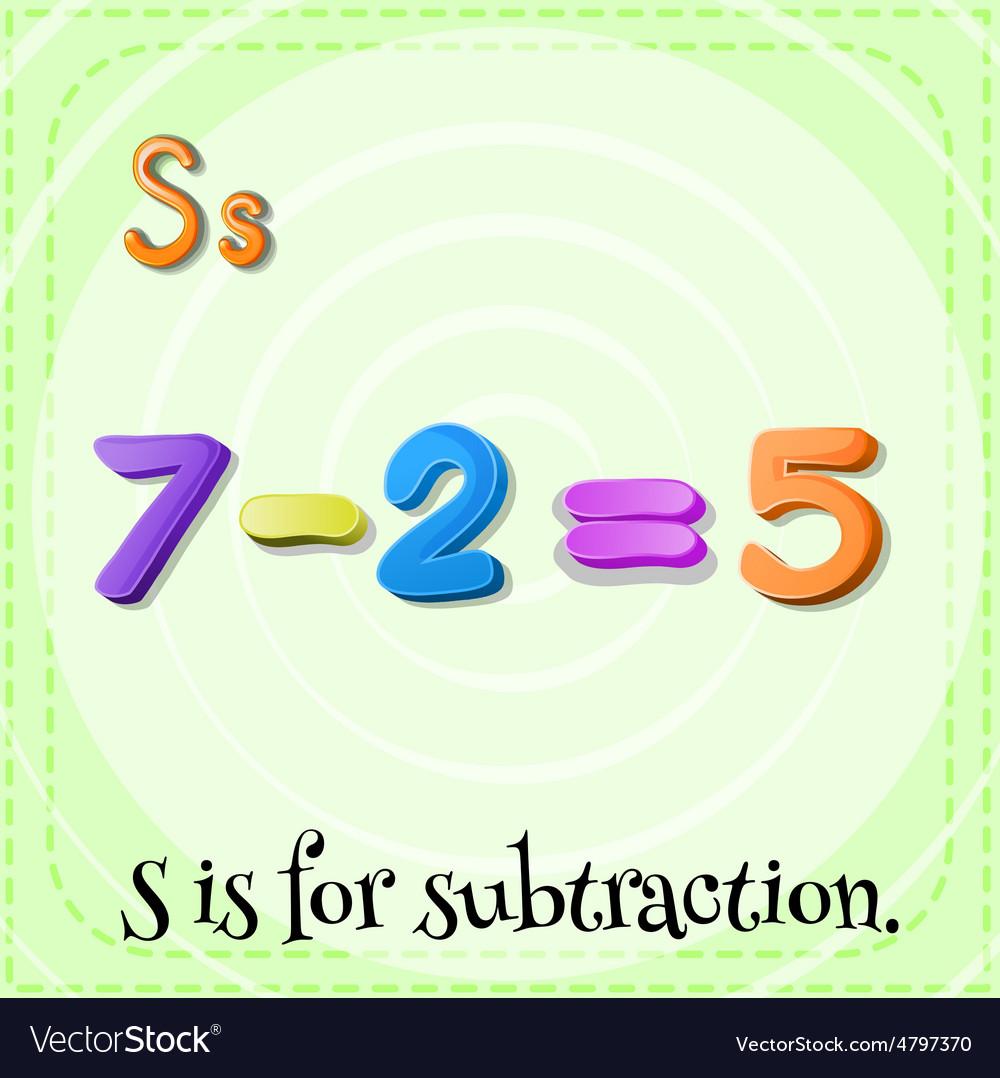 Subtraction vector | Price: 1 Credit (USD $1)