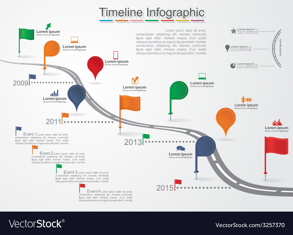 Timeline infographic template with icons vector | Price: 1 Credit (USD $1)