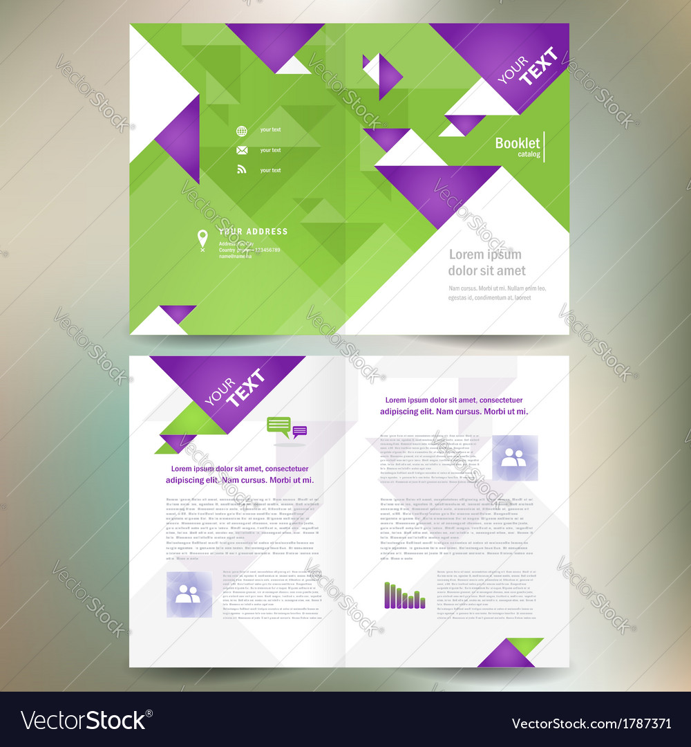 Booklet catalog brochure folder geometric triangle vector | Price: 1 Credit (USD $1)