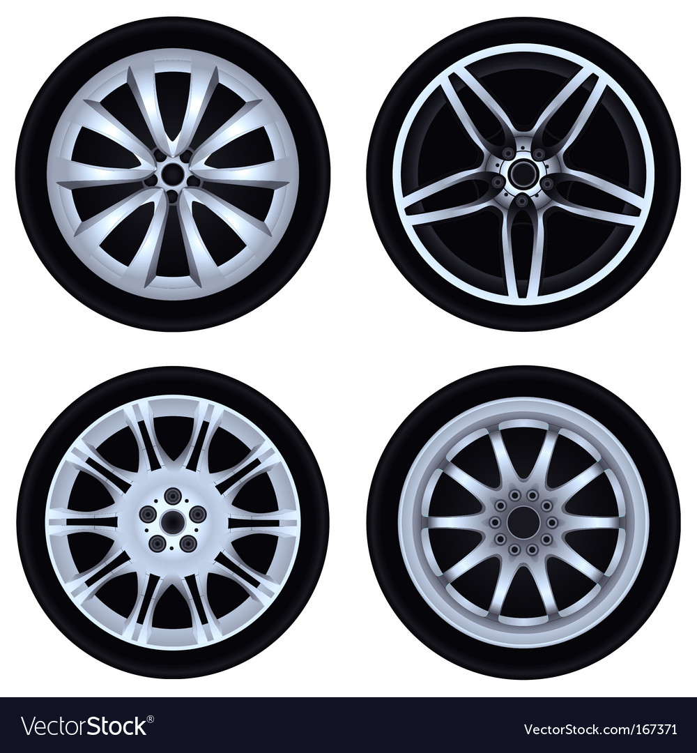 Chrome wheel vector | Price: 1 Credit (USD $1)