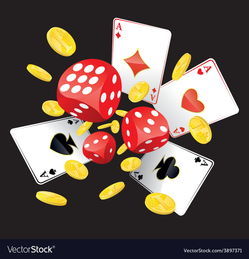 Dices aces and coins vector | Price: 1 Credit (USD $1)