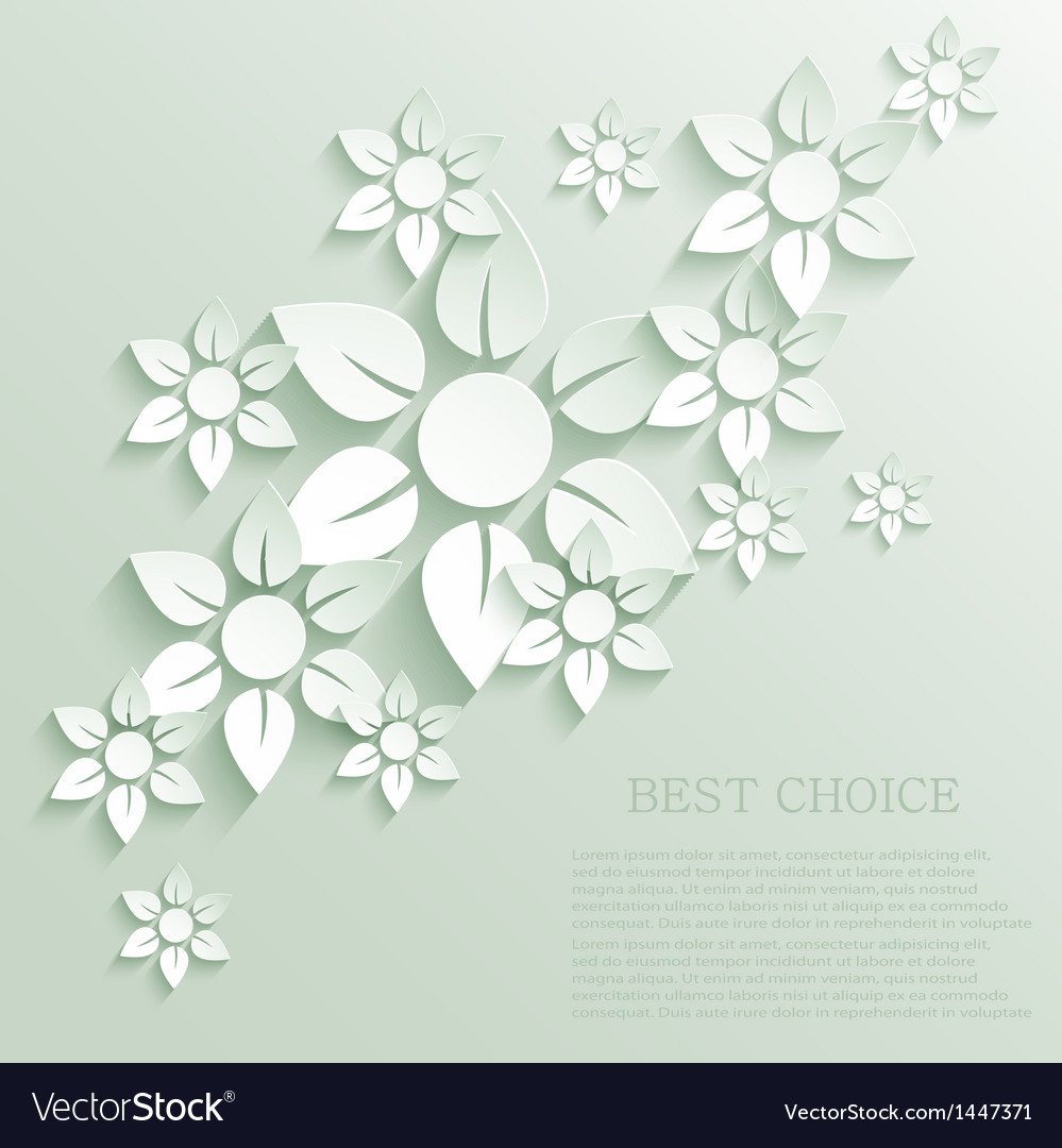 Flower background eps10 vector | Price: 1 Credit (USD $1)