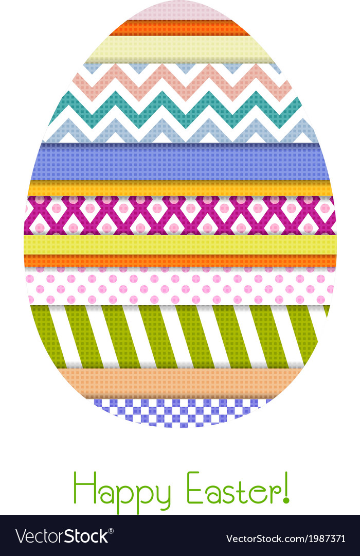 Greeting card with easter egg vector | Price: 1 Credit (USD $1)