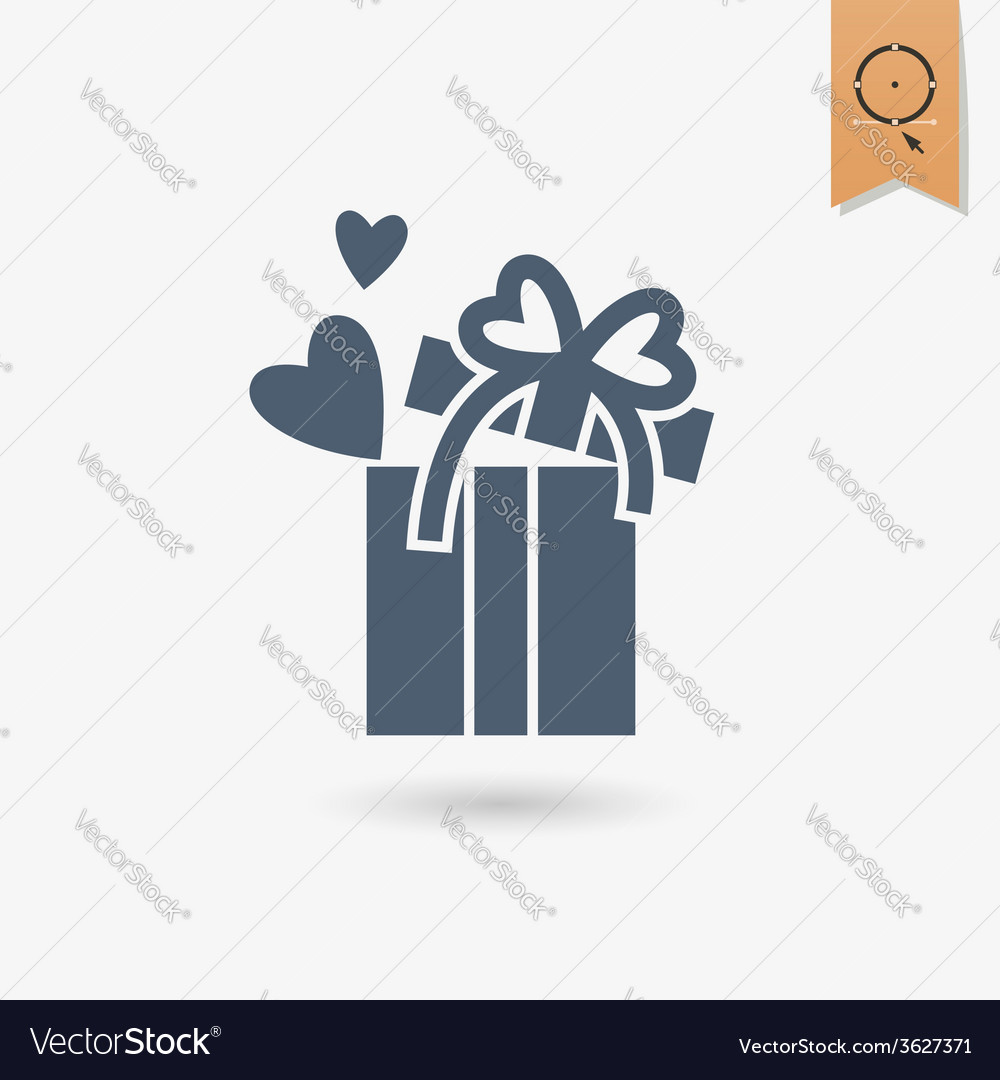 Happy valentines day icon vector | Price: 1 Credit (USD $1)