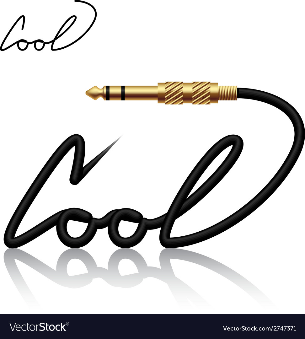 Jack connector cool calligraphy vector | Price: 1 Credit (USD $1)