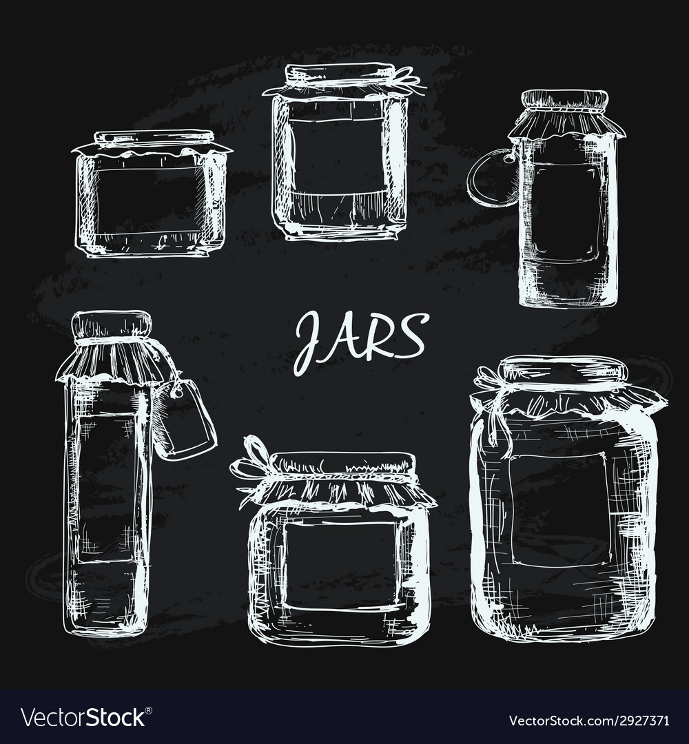 Jars with label vector | Price: 1 Credit (USD $1)