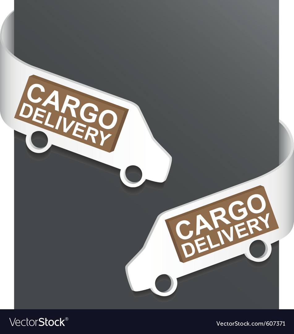 Left and right side sign - cargo delivery vector | Price: 1 Credit (USD $1)