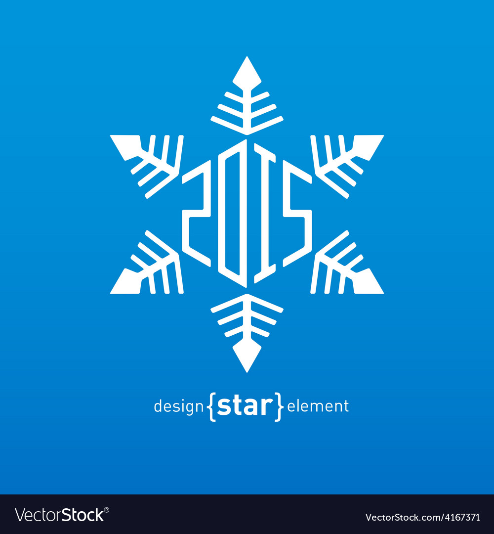 Original snowflake with new year date vector | Price: 1 Credit (USD $1)