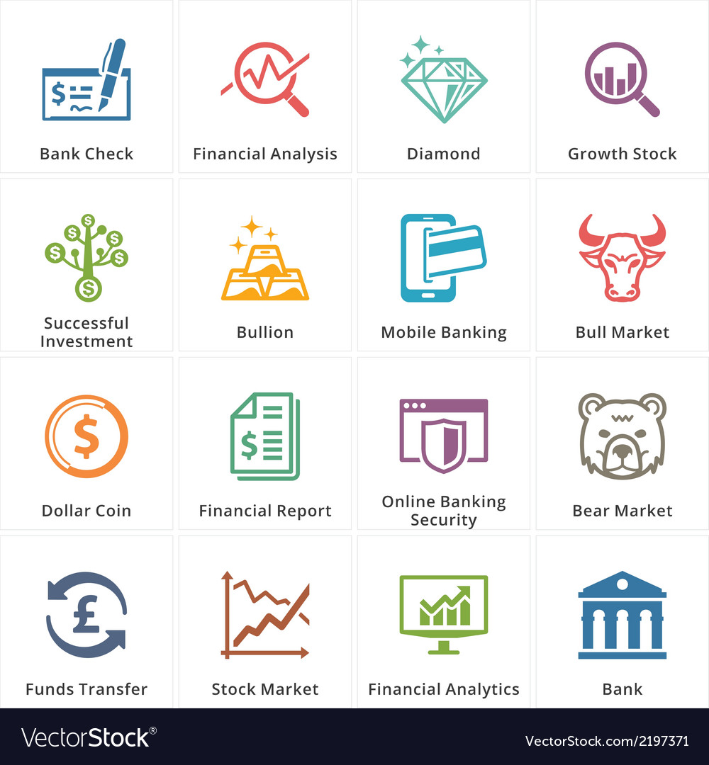 Personal business finance icons set 1 vector | Price: 1 Credit (USD $1)