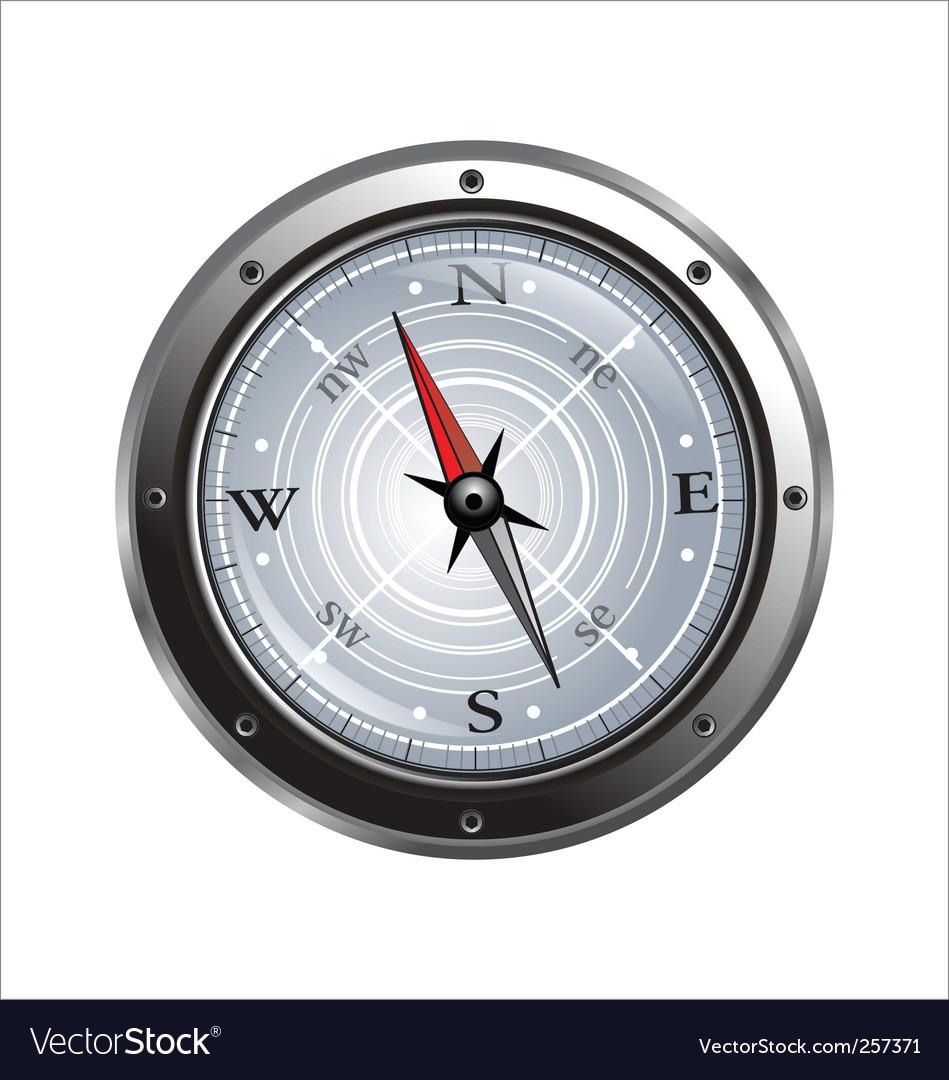 Steel compass vector | Price: 1 Credit (USD $1)