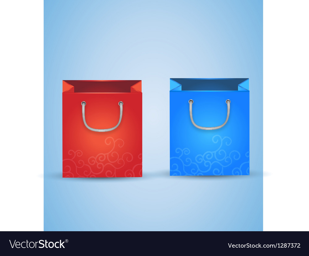 2 shopping bags vector | Price: 1 Credit (USD $1)