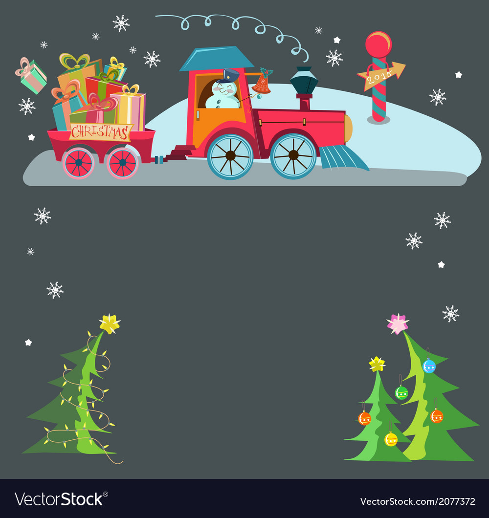 Christmas train vector | Price: 1 Credit (USD $1)