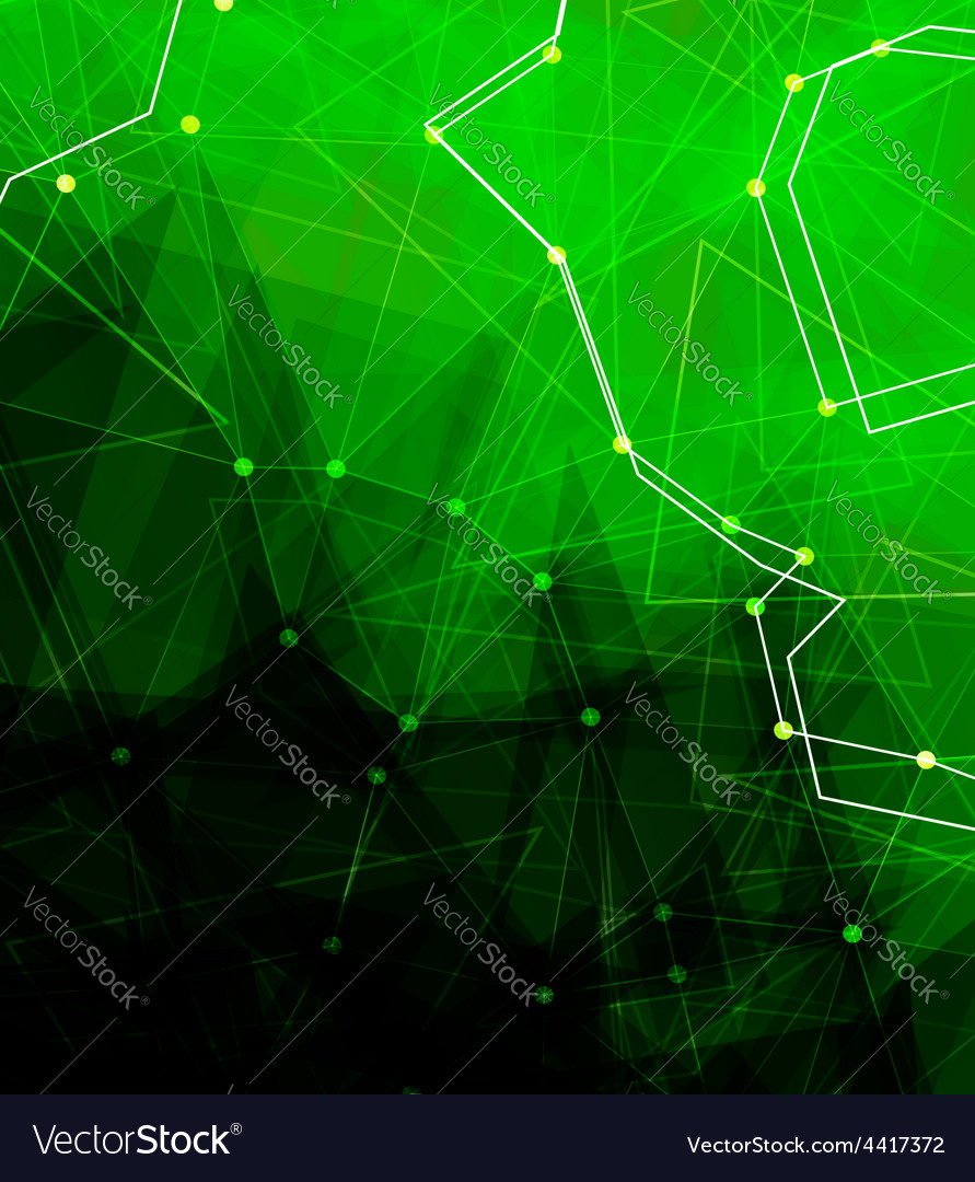 Dots with connections triangles light background vector