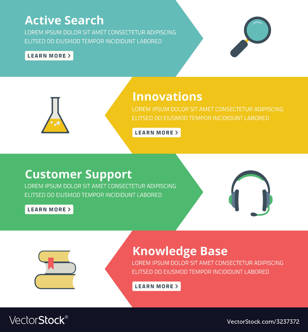 Flat design concept for search innovations support vector | Price: 1 Credit (USD $1)