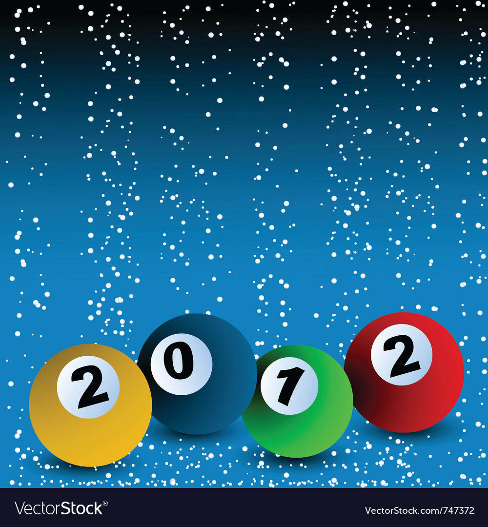 New years billiard vector | Price: 1 Credit (USD $1)