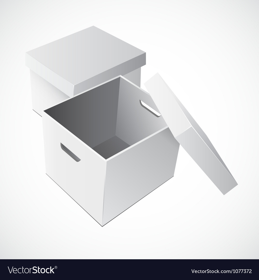 Open white cardboard carton gift box vector | Price: 1 Credit (USD $1)
