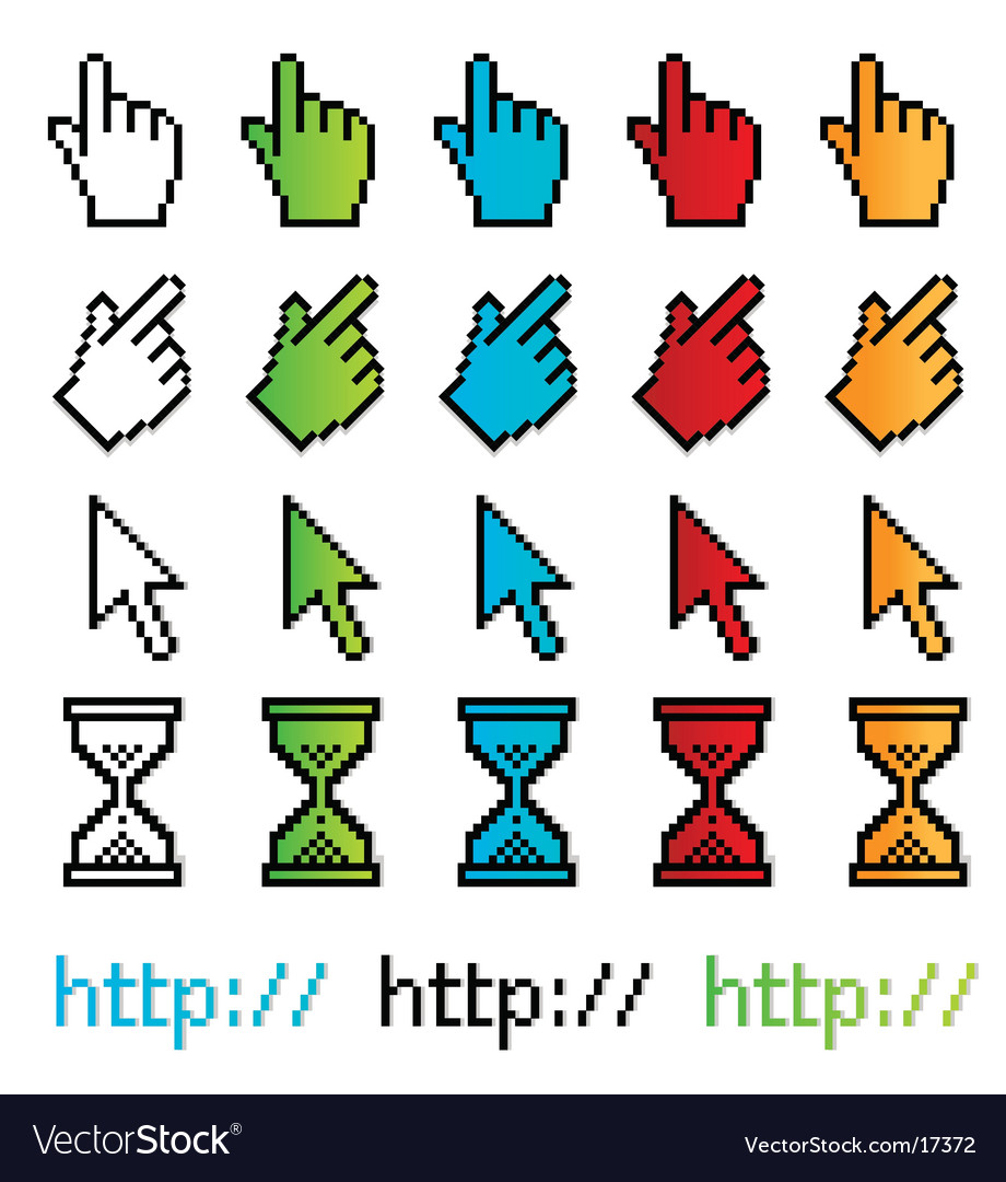 Pixel graphic pointers vector | Price: 1 Credit (USD $1)