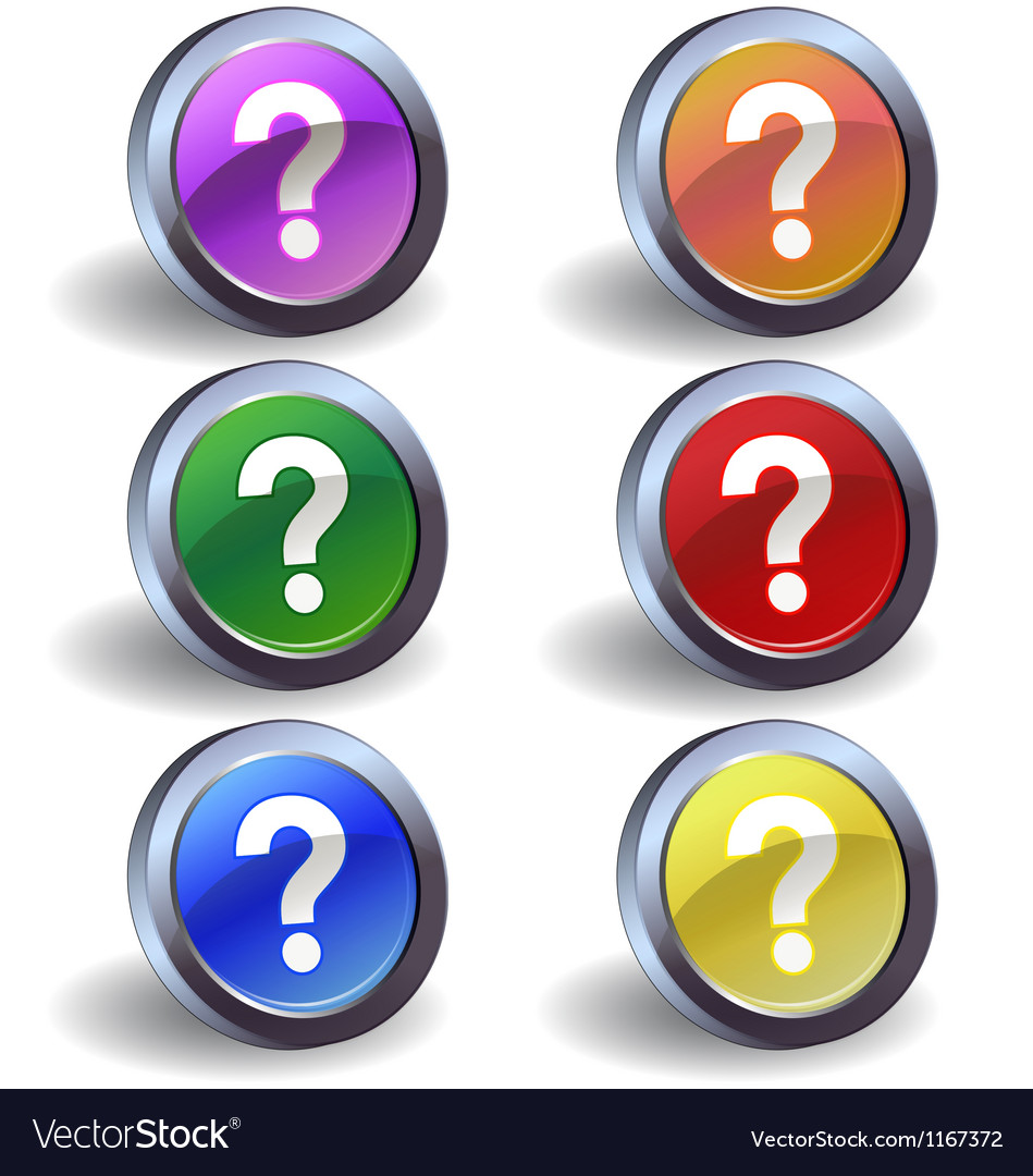 Question icons vector | Price: 1 Credit (USD $1)