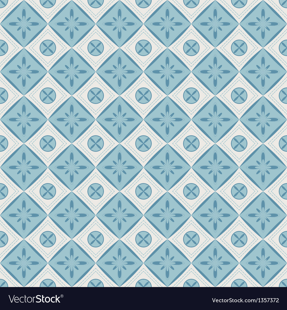 Seamless pattern with geometric diamond shapes vector | Price: 1 Credit (USD $1)
