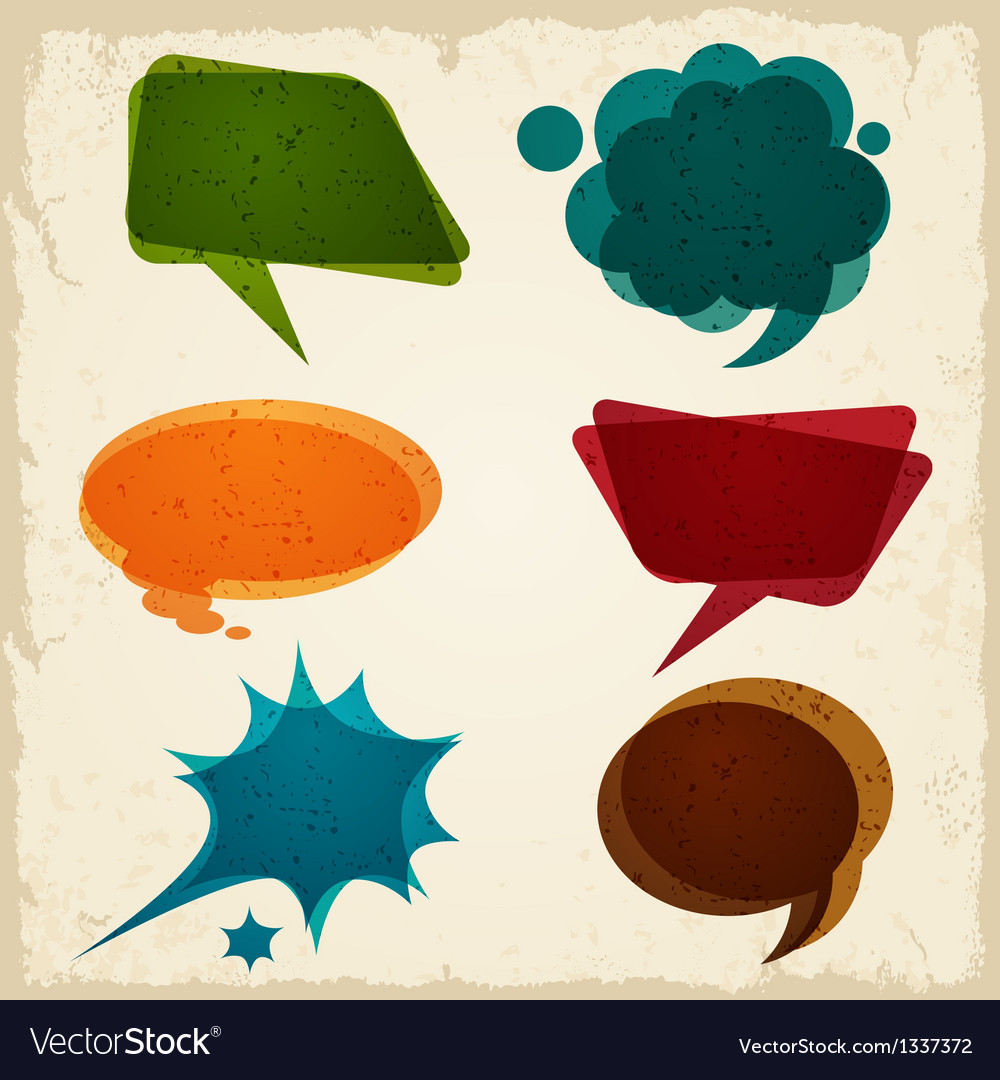 Speech bubble in retro style vector | Price: 1 Credit (USD $1)