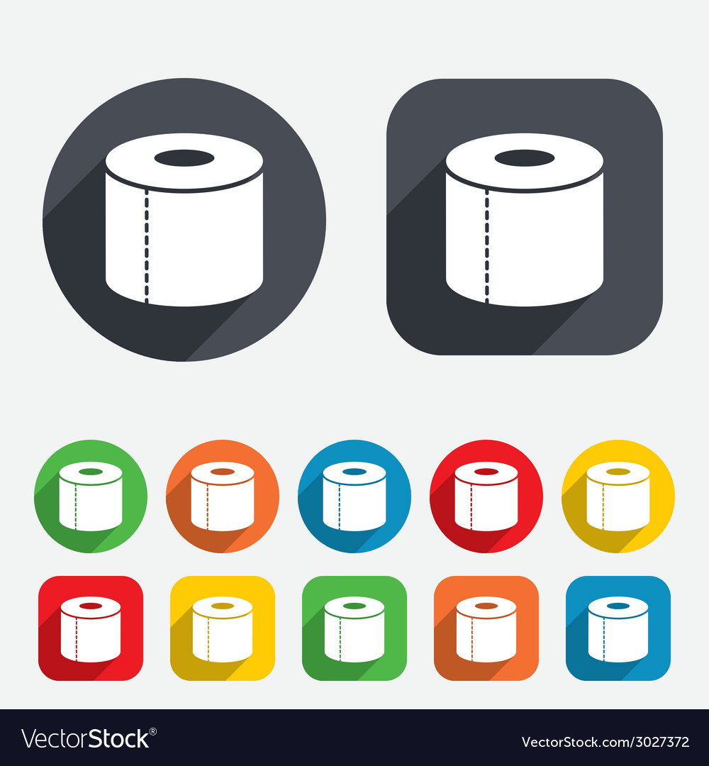 Toilet paper sign icon wc roll symbol vector | Price: 1 Credit (USD $1)