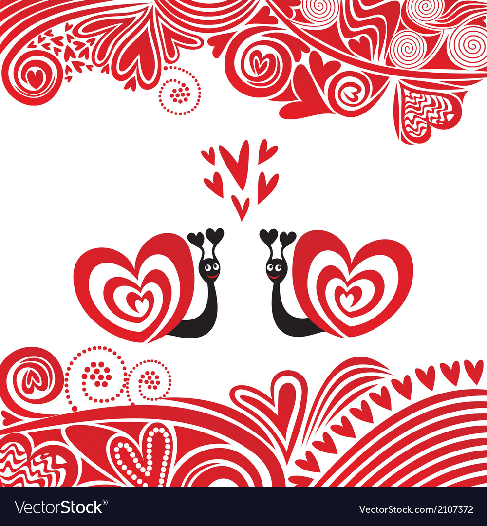 Valentines day card cat heart vector | Price: 1 Credit (USD $1)
