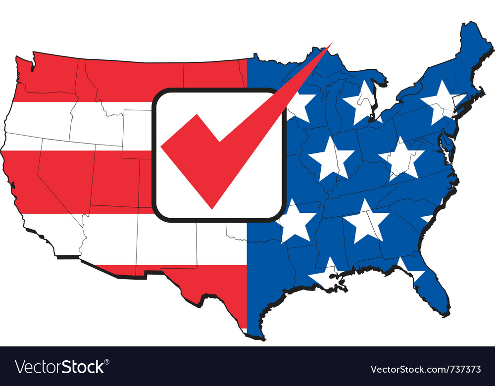 America election map vector | Price: 1 Credit (USD $1)