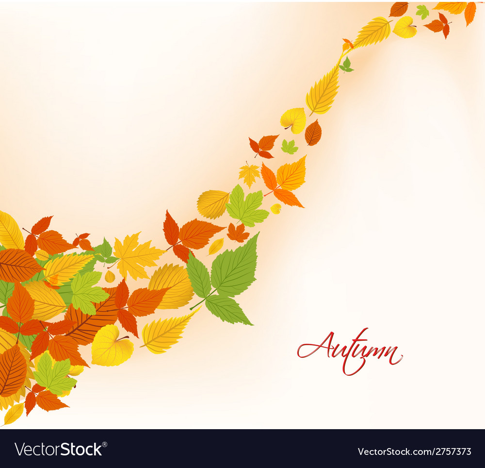 Autumn fall leaves background vector | Price: 1 Credit (USD $1)