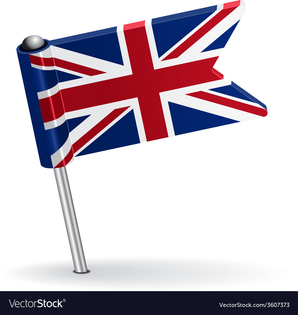 British pin icon flag vector | Price: 1 Credit (USD $1)