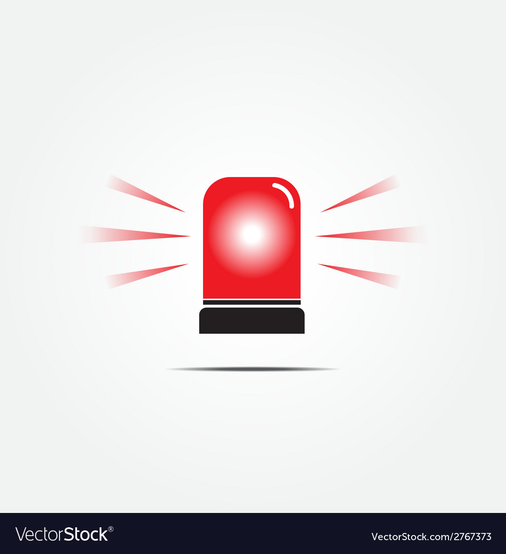 Emergency rotating beacon light vector | Price: 1 Credit (USD $1)