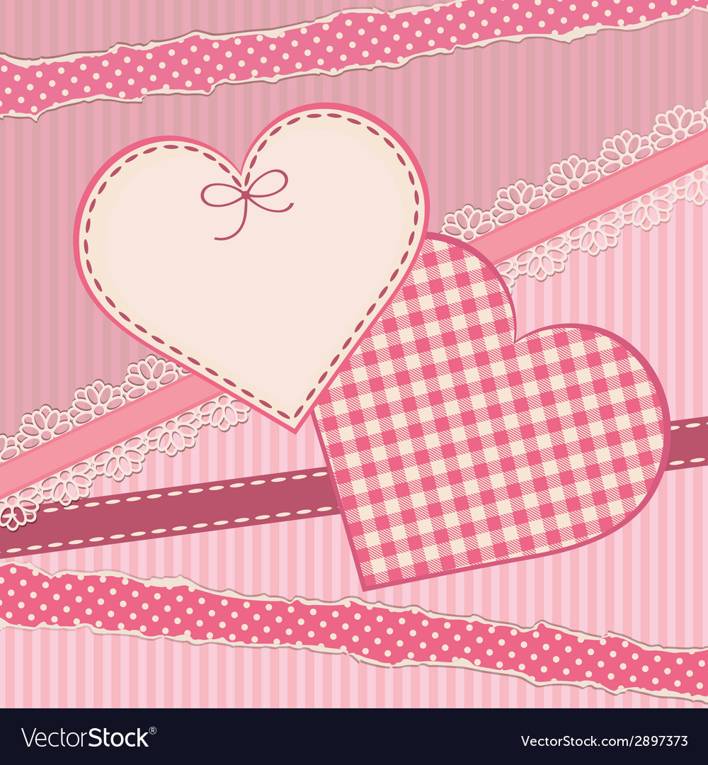 Greetings card with heart form vector | Price: 1 Credit (USD $1)