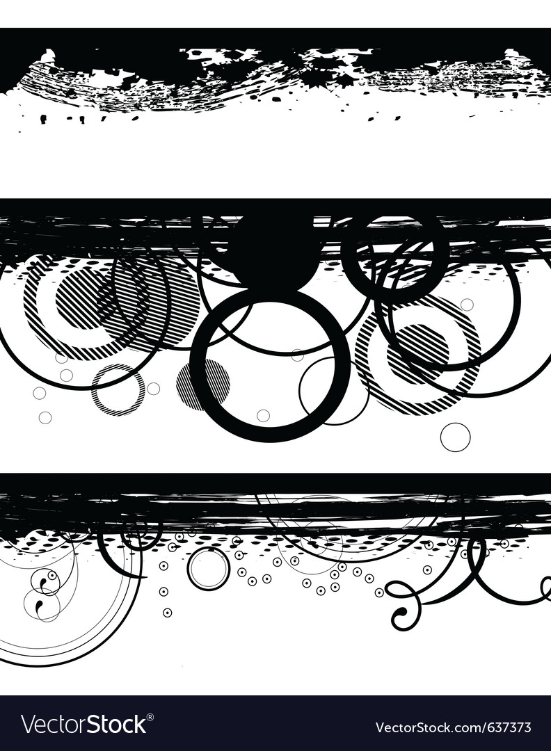 Grunge black banners vector | Price: 1 Credit (USD $1)