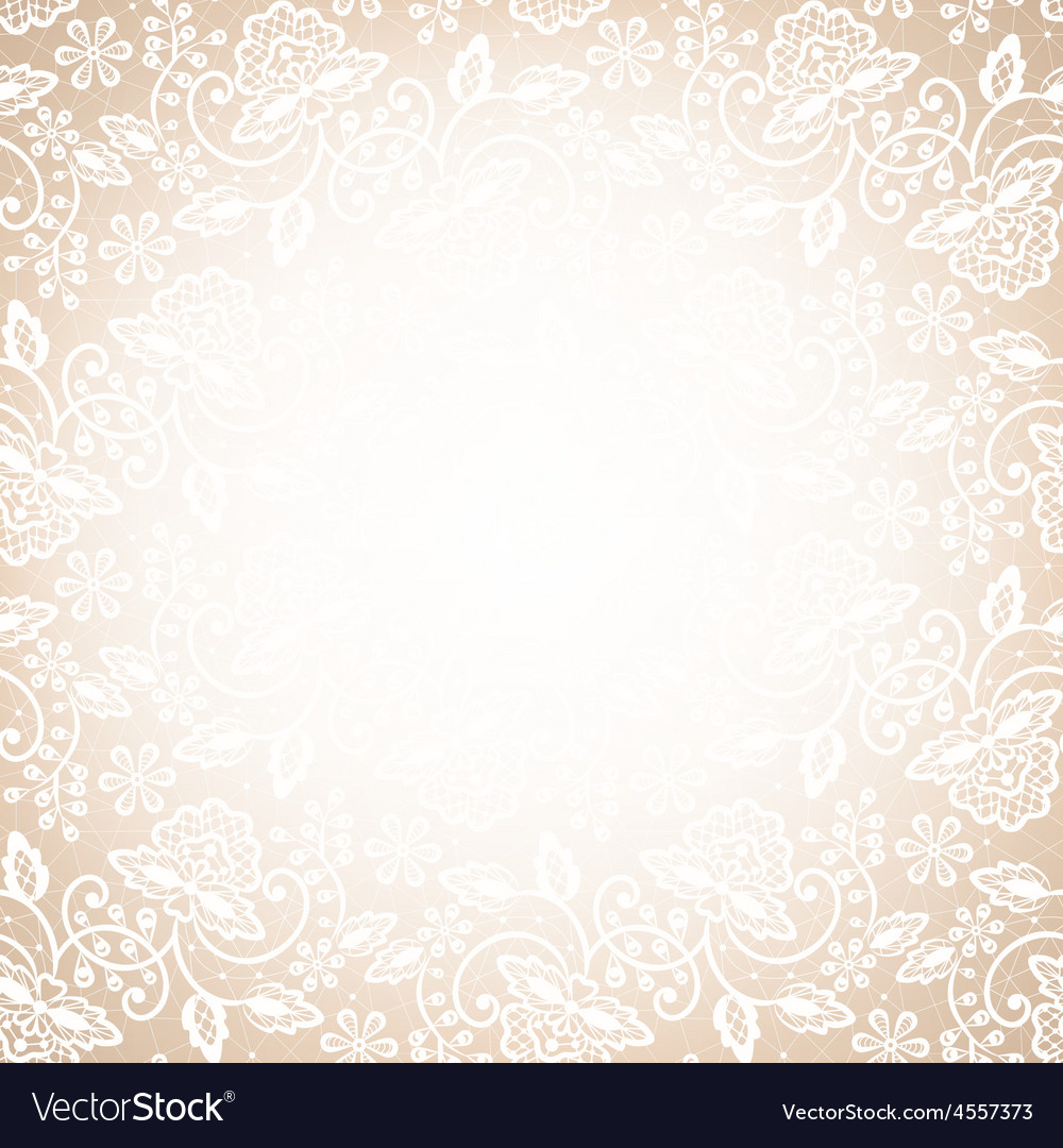 Lace frame on beige background vector | Price: 1 Credit (USD $1)