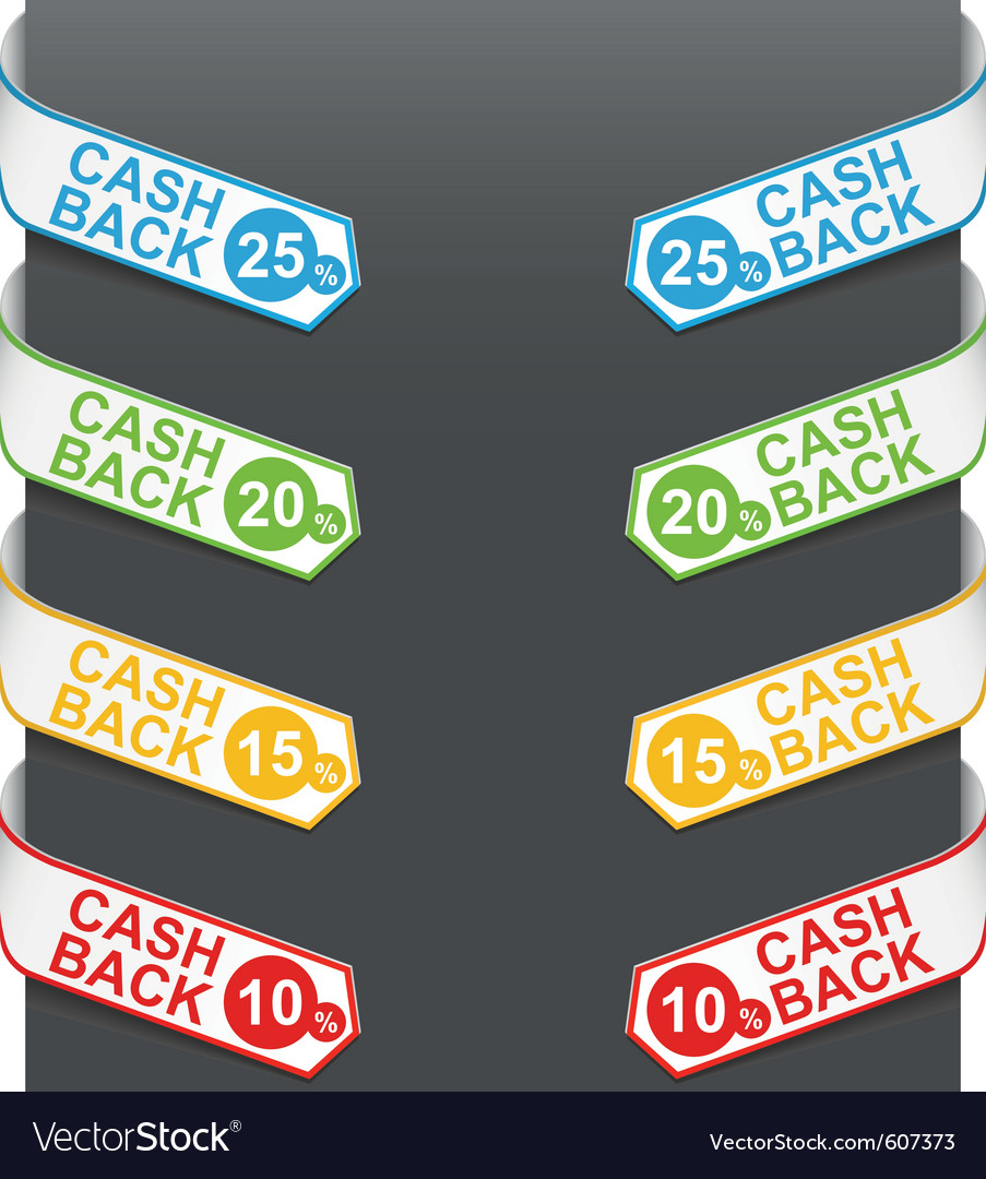 Left and right side signs - cash back vector | Price: 1 Credit (USD $1)