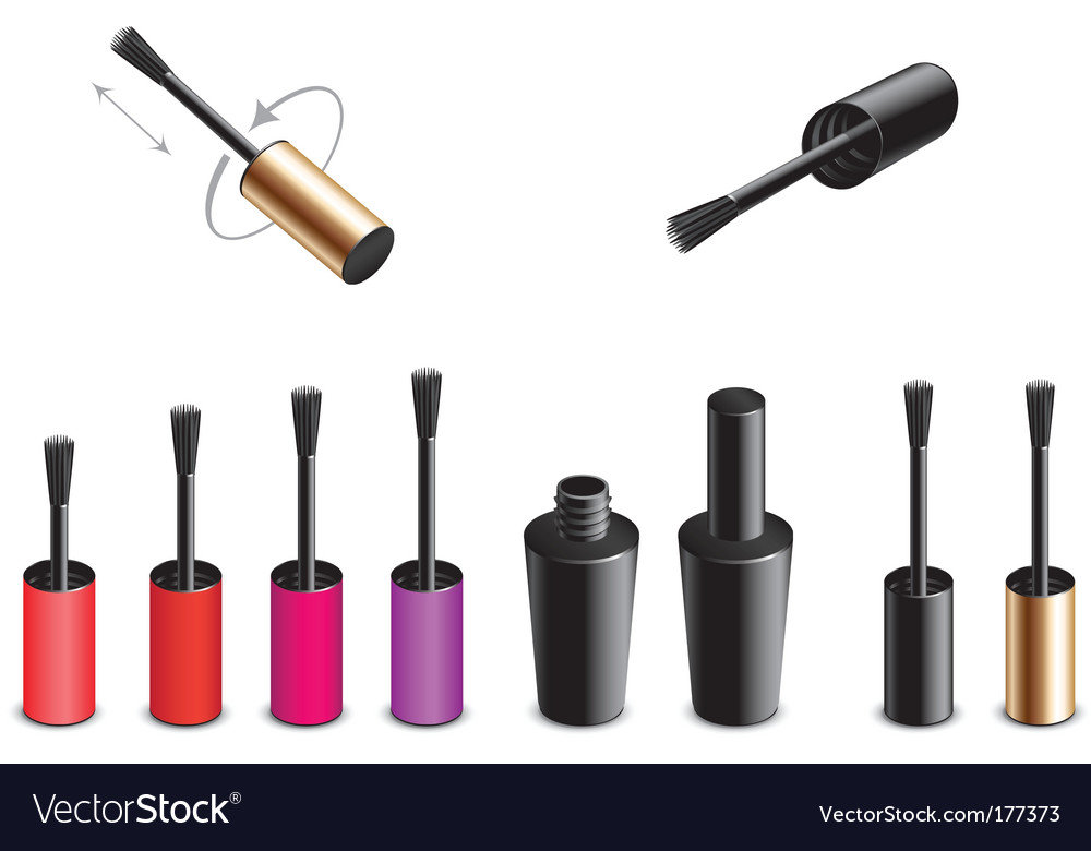 Nail polish design elements vector   Price: 1 Credit (USD $1)
